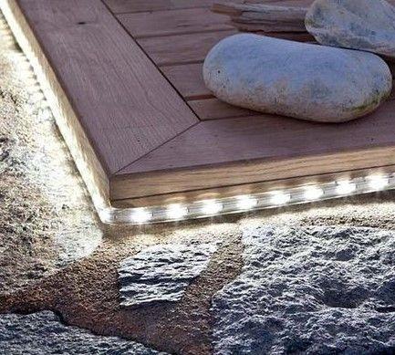 iluminación decorativa con tiras LED